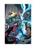 Marvel Adventures The Avengers 31 Cover: Thor Affiche par Salva Espin