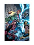 Marvel Adventures The Avengers No.31 Cover: Thor Affiche par Salva Espin