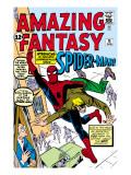 Amazing Fantasy No.15 Cover: Spider-Man Swinging Affischer av Steve Ditko
