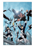 New X-Men 16 Group: Hellion, Moonstar, Quill, Surge, Synch and Wind Dancer Posters by Lopresti Aaron