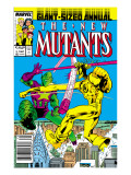 New Mutants Annual 3 Cover: Impossible Man and Warlock Prints by Davis Alan
