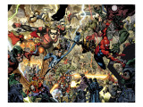 Secret Invasion No.7 Group: Spider-Man, Ronin, Mr. Fantastic and Stature Posters av Yu Leinil Francis