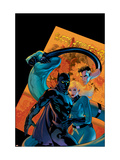 Marvel Knights 4 No.21 Cover: Mr. Fantastic, Invisible Woman and Black Panther Art by De Landro Valentine