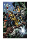 Uncanny X-Men No.493 Group: Wolfsbane, Wolverine, X-23, Warpath, Hepsibah and Caliban Prints by Billy Tan
