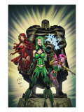 Exiles 2 Cover: Polaris, Scarlet Witch and Blink Poster by Dave Bullock