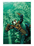 Marvel Adventures Spider-Man No.32 Cover: Spider-Man and Hydro Man Posters by Patrick Scherberger