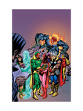Avengers: Vision And The Scarlet Cover: Vision, Scarlet Witch, Thor, Iron Man and Dormammu Poster by Gil Kane