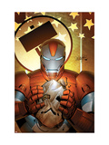 Invincible Iron Man 19 Cover: Iron Patriot Poster von Salvador Larroca