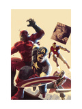 The Mighty Avengers 12 Cover: Captain America, Giant Man, Iron Man and Thor Posters