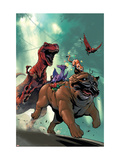 Lockjaw and the Pet Avengers No.2 Cover: Lockjaw, Lockheed and Devil Dinosaur Prints by Karl Kerschl