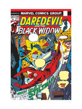 Daredevil No.102 Cover: Stiltman, Black Widow and Daredevil Posters by Syd Shores
