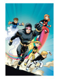 X-Men and Power Pack No.4 Cover: 9000558 Prints by GuriHiru