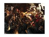 Daredevil No.100 Cover: Daredevil, Elektra, Luke Cage, Iron Fist and Spider-Man Poster