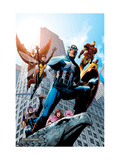 Avengers No.82 Cover: Captain America, Hawkeye, Falcon, Iron Man, Vision, Scarlet Witch & Avengers Posters par Kolins Scott