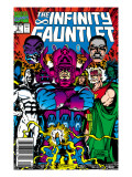 Infinity Gauntlet 5 Cover: Thanos, Galactus, Kronos, The Stranger, Lord Chaos and Master Order Posters by George Perez