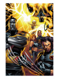 Ultimate X-Men 50 Cover: Colossus, Wolverine, Nightcrawler, Grey, Jean, Cyclops, Storm and X-Men Print by Andy Kubert
