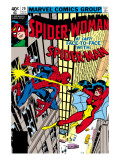 Spider-Woman 20 Cover: Spider Woman and Spider-Man Fighting Prints by Frank Springer