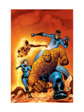 Fantastic Four 509 Cover: Mr. Fantastic, Invisible Woman, Human Torch, Thing and Fantastic Four Prints by Mike Wieringo