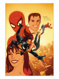 The Sensational Spider-Man Annual No.1 Cover: Spider-Man, Peter Parker, and Mary Jane Watson Art by Salvador Larroca