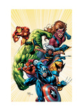 Marvel Adventures Avengers No.8 Cover: Captain America Prints by Chen Sean