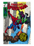 The Amazing Spider-Man 97 Cover: Spider-Man and Green Goblin Prints by Gil Kane