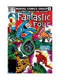 Fantastic Four #246 Cover: Dr. Doom, Mr. Fantastic, Invisible Woman, Human Torch and Thing Fighting Posters por John Byrne