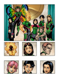 New X-Men: Academy X Yearbook Group: Pixie, Match, Trance, Wolf Cub, D.J., Preview and Paragons Posters by Georges Jeanty