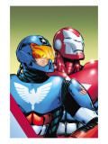 The Amazing Spider-Man No.599 Cover: American Son and Iron Patriot Prints by Phil Jimenez