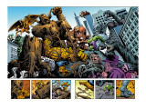 Marvel: Monsters On The Prowl No.1 Group: Hulk, Thing, Groot, Fin Fang Foom and Grogg Prints by Fegredo Duncan