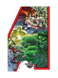 Avengers: Earths Mightiest Hero No.1 Cover: Hulk, Iron Man, Thor, Ant-Man, Wasp and Avengers Láminas por Kolins Scott