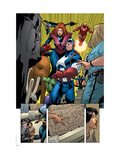 Marvel Adventures The Avengers 14 Group: Captain America Print by Kirk Leonard