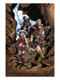 Thor Son Of Asgard 2 Group: Thor, Sif and Balder Fighting Prints by Tocchini Greg