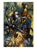 X-Infernus 2 Cover: Darkchylde, Colossus, Wolverine, Nightcrawler, Pixie and Mercury Art par David Finch
