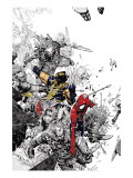 The Amazing Spider-Man No.555 Cover: Spider-Man and Wolverine Poster von Bachalo Chris
