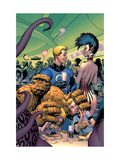 Fantastic Four 573 Cover: Thing, Human Torch, Richards, Franklin, Richards and Valeria Posters by Davis Alan