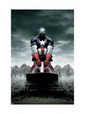 Captain America 4 Cover: Captain America Prints by Epting Steve