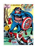 Captain America Bicentennial Battles: Captain America and Red Skull Prints by Jack Kirby