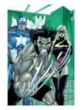 Wolverine Captain America 3 Group: Wolverine, Captain America and Warbird Poster by Tom Derenick