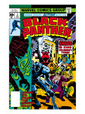 Black Panther No.3 Cover: Black Panther, Princess Zanda, Hatch-22, Little and Abner Charging Print by Jack Kirby