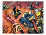Eternals 8 Group: Wolverine, Cyclops, Colossus, Beast and Eramis Print by Eric Nguyen