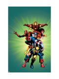 Wizard 136 Cover: Captain America, Wolverine, Spider-Man, Spider Woman, Iron Man and New Avengers Posters by Jim Cheung