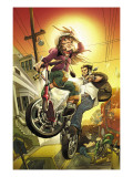 Runaways No.10 Cover: Hayes, Molly and Wolverine Prints by LaFuente David