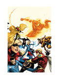 The Mighty Avengers 25 Cover: Invisible Woman Print by Pham Khoi