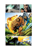 Marvel Adventures Fantastic Four 5 Group: Invisible Woman, Thing and Human Torch Print by Manuel Garcia