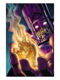 Stormbreaker: Beta Ray Bill No.4 Cover: Galactus and Stardust Posters by Andrea Di Vito