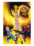 Incredible Hercules 125 Cover: Hercules, Emma Frost, X-23, Spider-Girl and Invisible Woman Prints by McGuiness Ed