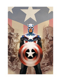 Captain America 45 Cover: Captain America Prints by Epting Steve