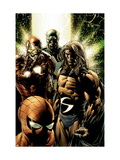 New Avengers 8 Cover: Captain America, Sentry, Iron Man, Spider-Man and New Avengers Prints by MCNiven Steve