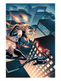 Black Widow & The Marvel Girls No.3 Cover: Ms. Marvel and Black Widow Prints by Salva Espin