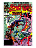 Secret Wars 3 Cover: Colossus, Nightcrawler, Spider-Man, Wolverine, Storm, Cyclops and X-Men Art by Mike Zeck